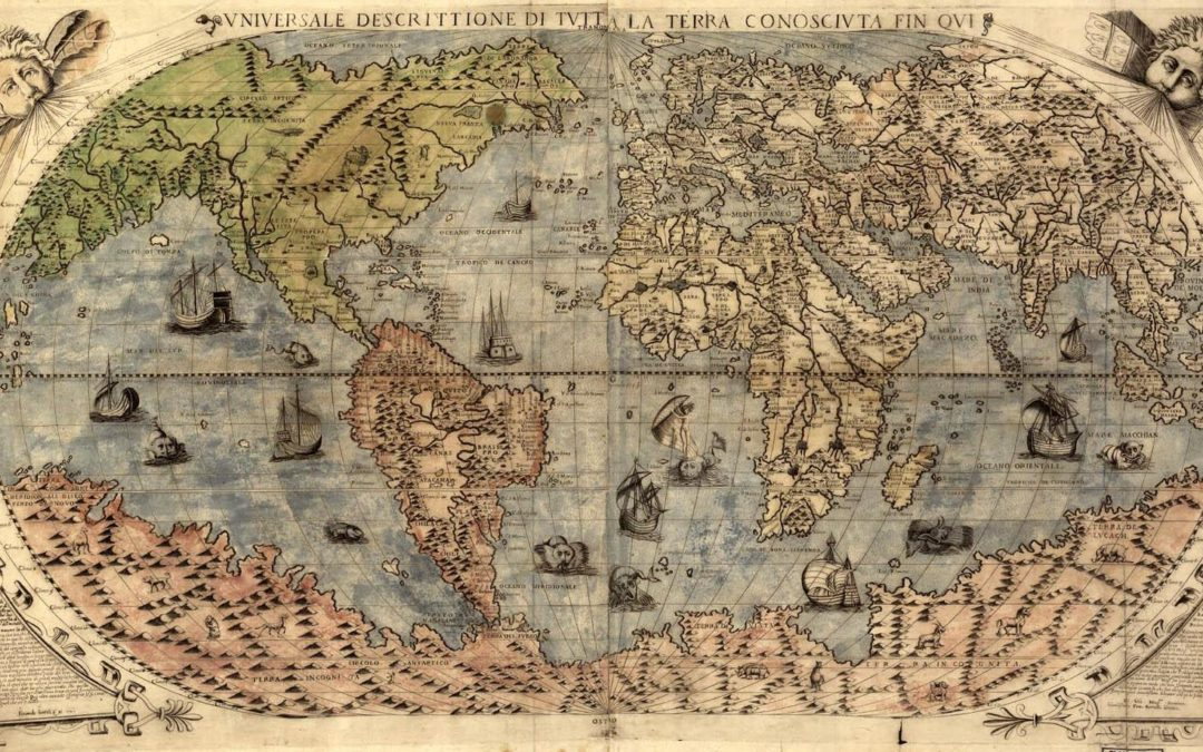 Map of the world from 1565 by Paolo Forlani