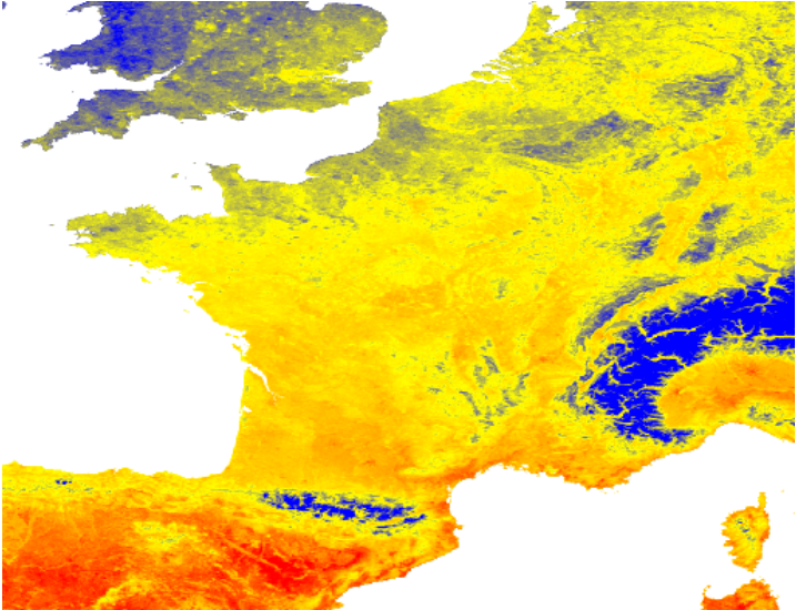 daytime-land-surface-temperature-france